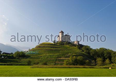 Liechtenstein,Balzers,Gutenburg Castle - Stock Photo