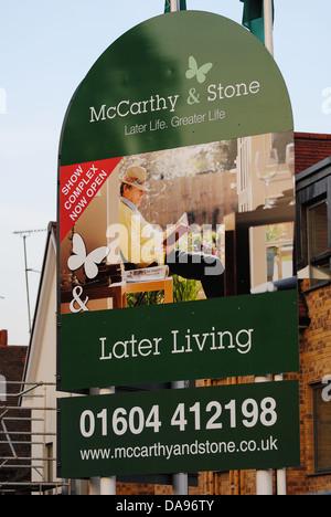 McCarthy & Stone retirement home sign - Stock Photo