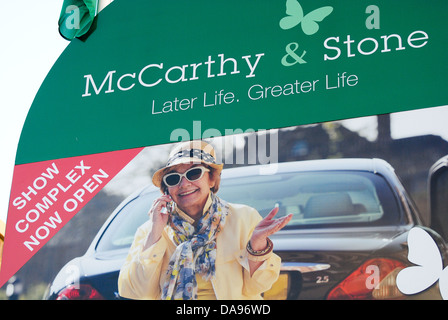 McCarthy & Stone retirement home sign - Stock Photo