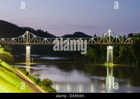 Aldo Pereira de Andrade Bridge over Itajai River. - Stock Photo