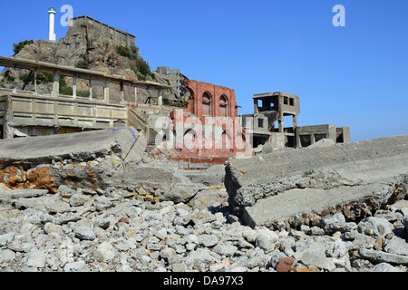 Unesco, Abandoned, Archaeological Site, Archaeology, Archeology, Architecture, Asia, Battleship Island, Coal Mining, - Stock Photo