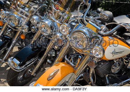 Switzerland,Brunnen,Harley Davidson festival - Stock Photo