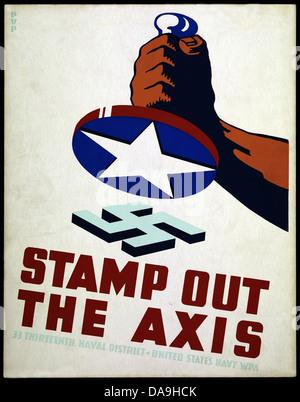 World War II, Second World War, world war, war, poster, Propaganda, propaganda poster, USA, American, propaganda, - Stock Photo
