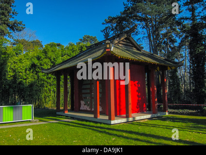 Paris, France, Abandoned Buildings in Woods, Old Exotic Colonial Exhibition Scene in 'Bois de VIncennes', - Stock Photo