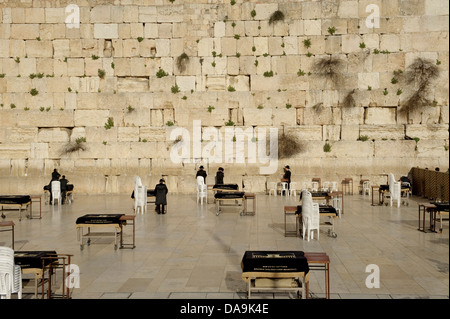 Old Town, Israel, Jerusalem, Wailing Wall, Middle East, Near East, Jew, Jewish, religion - Stock Photo