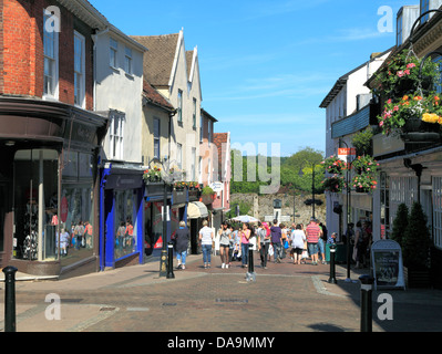 Bury St. Edmunds, Abbeygate Street, town centre, street scene, Suffolk, England UK - Stock Photo