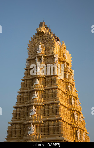 India, South India, Asia, Karnataka, Mysore, Chamundi Hill, Chamundeshwari Temple, Chamundeshwari, art, Dravidian, - Stock Photo