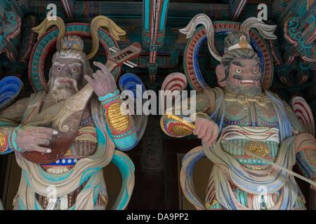 Giant Wardens by the gates of Bulguksa Temple, Gyeongju, South Korea - Stock Photo