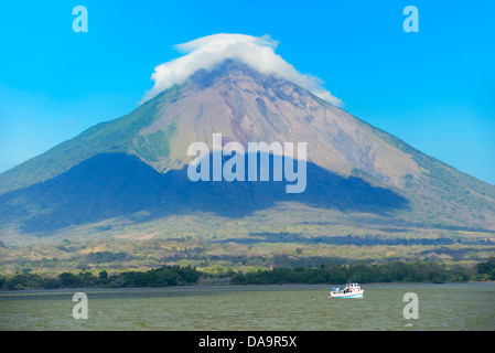 Central America, Nicaragua, Rivas, Isla Ometepe, UNESCO, Biosphere, Preserve, volcano, conception, Lago Nicaragua, - Stock Photo
