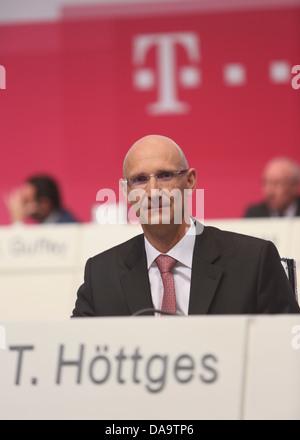 Deutsche Telekom CFO Timotheus Hoettges, Hauptversammlung, Lanxess Arena, Koeln, 17.05.2013. - Stock Photo