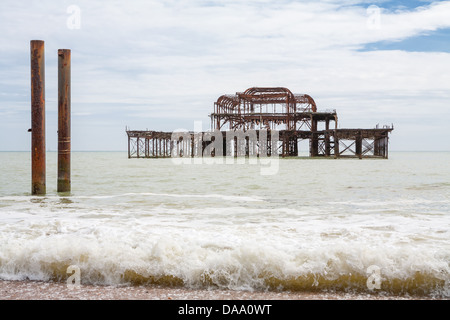 Old West Pier. Brighton, UK - Stock Photo