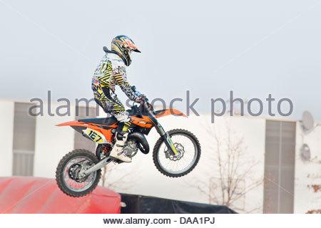 freestyle motocross - Stock Photo