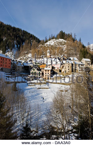 Switzerland,Canton Ticino,Fusio - Stock Photo