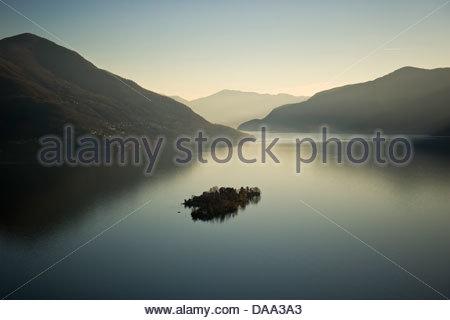 Switzerland,Canton Ticino,Brissago Island - Stock Photo