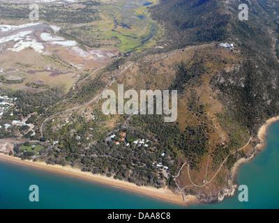 Aerial view of Cape Pallarenda, Townsville, Queensland, Australia - Stock Photo