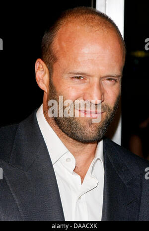 Actor Jason Statham arrives at the premiere of 'The Mechanic' at Arclight Cinemas in Los Angeles, USA, on 25 January - Stock Photo