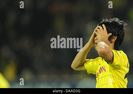 (FILE) A file picture dated 30 September 2010 shows Shinji Kagawa at a European League game against the FC Sevilla - Stock Photo