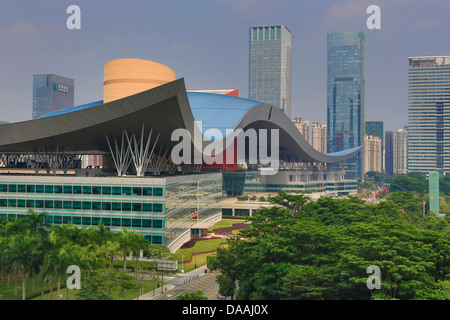 China, Shenzhen, City, Asia, Downtown, Civic Center, skyline, architecture, big, center, civic, curve, design, downtown, - Stock Photo