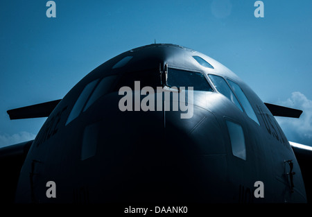 A C-17 Globemaster III sits on the flightline June 26, 2013, at Joint Base Charleston - Air Base, S.C. The C-17 - Stock Photo