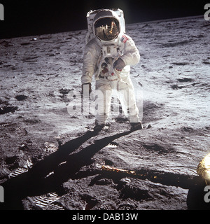 BUZZ ALDRIN  US astronaut walking on the Moon 21 July 1969 on the Apollo 11 mission. - Stock Photo