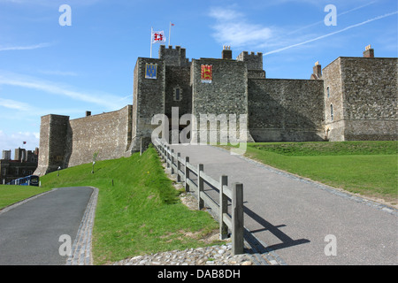 Dover Castle - a medieval fortress in United Kingdom, county of Kent. - Stock Photo