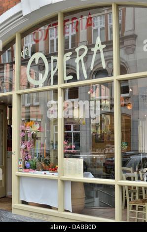 Osteria Dell'Opera in Drury Lane, Covent Garden, London, UK. - Stock Photo