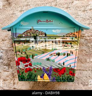 Mailbox of Saint Paul de Vence France Cote D'Azur Art Gallery - Stock Photo