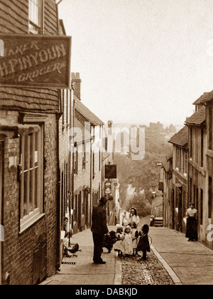 Lewes Keere Street early 1900s - Stock Photo