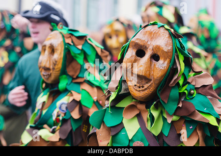 Fasnact spring carnival parade, Weil am Rhein, Germany, Europe - Stock Photo