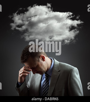 Depressed businessman - Stock Photo