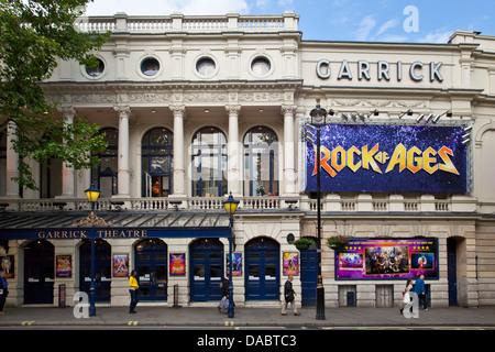 The Garrick Theatre, Charing Cross Road, London, England - Stock Photo