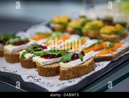 party canapés - Stock Photo