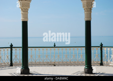 Beautiful sea view from Brighton bandstand - Stock Photo