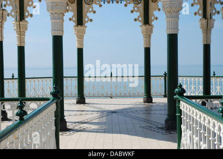 sea view from Brighton bandstand - Stock Photo