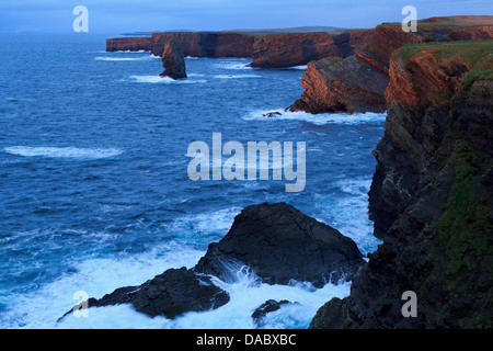 Cliffs on Loop Head, Kilrush, County Clare, Munster, Republic of Ireland, Europe - Stock Photo