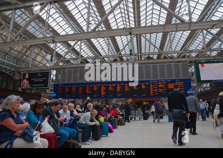 Central station Glasgow Scotland Britain UK Europe - Stock Photo