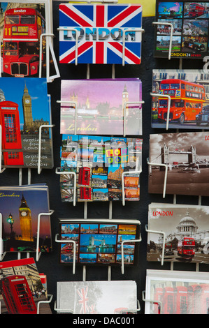 Postcards for sale London England Britain UK Europe - Stock Photo