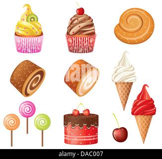 Sweet pastry set. - Stock Photo