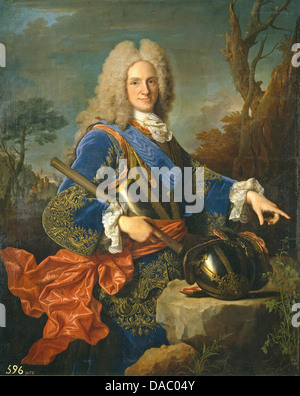 PHILIP V OF SPAIN (1683-1746) painted by Jean Ranc in 1723 - Stock Photo