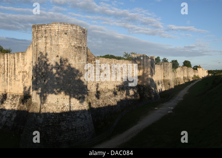Ramparts dating from the 13th century of the medieval town of Provins, UNESCO Site, Seine-et-Marne, Ile-de-France, - Stock Photo