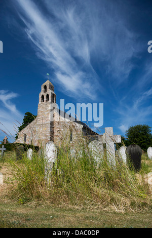 St Michael & All Angels Church and churchyard. Ford, Northumberland, England - Stock Photo