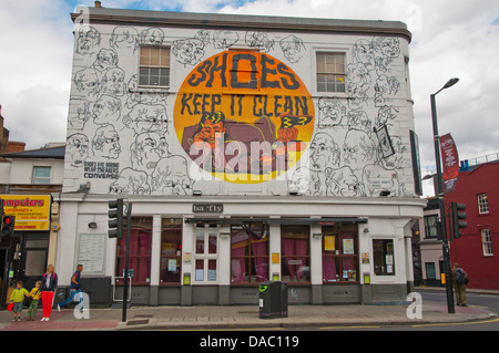 Chalk Farm Road street Camden Town district London England Britain UK Europe - Stock Photo
