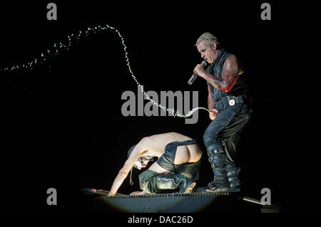 Rome, Italy. 09th July, 2013.  Metal rock band Rammstein, Rome (Italy) concert, 09-07-2013 Credit:  Roberto Nistri/Alamy - Stock Photo