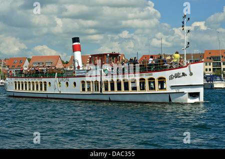 Tourist boat 'Europa' at Waren Müritz, Germany. - Stock Photo