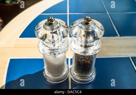 Salt and pepper mills, grinders - Stock Photo