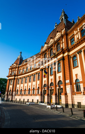 Central administration building of Brasov county, in Romania, XIXth century neobaroque architecture style, - Stock Photo