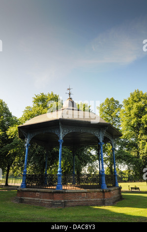 Restored Victorian bandstand in Dudley Council owned Mary Stevens Park in Quarry Bank - Stock Photo