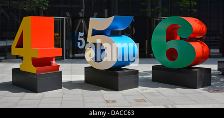 One Through Zero (The Ten Numbers) sculpture by Robert Indiana part of the City of Londons cultural landscape project - Stock Photo