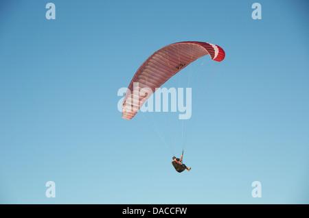 Paraglider Mount Maunganui, New Zealand. - Stock Photo