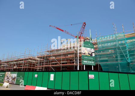 A McCarthy and Stone construction site building accommodation for later living ( landscape view ) - Stock Photo